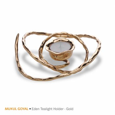 Buy Online Eden T Light Holder Gold Fch Mgl Mg307 Fcml India